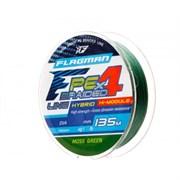 Плетеный шнур Flagman PE Hybrid F4 MossGreen 135m