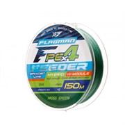 Плетеный шнур Flagman PE Hybrid F4 Feeder Moss Green 150m