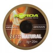 Поводковый материал Korda Super Natural Gravel Brown 20м